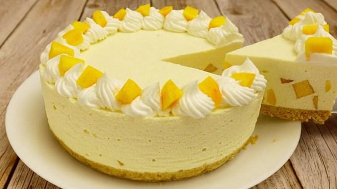 Персиковий торт суфле без випічки! Завжди готую його на день народження