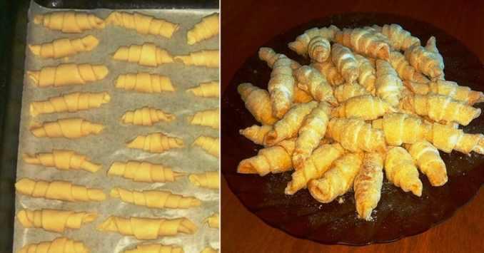 Рецепт пісочних рогаликів всього з 3-ох інгредієнтів:  виходять розсипчасті і хрусткі