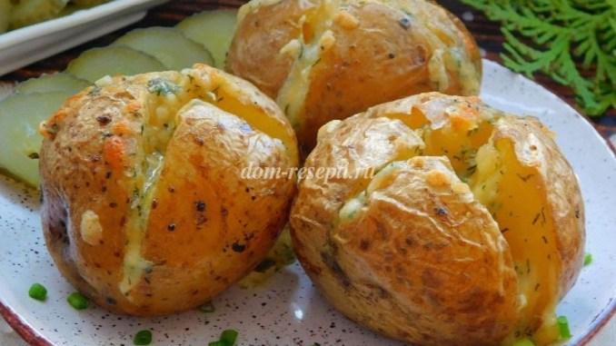 Ароматна картопля, запечена з часниковим маслом. Обожнюю таку картопельку!