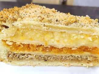 Беру лимон, горіхи, курагу і готую тришаровий пиріг. Нереально красивий та смачний!
