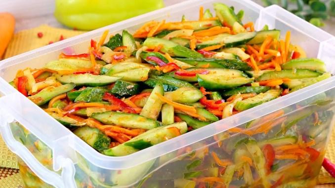 З'їли моментально! Огірки по-корейськи на зиму і не тільки! Апетитний салат з огірків по-корейськи