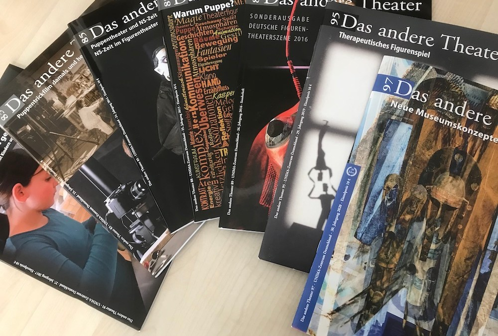 """17 years in the editorial department of """"The Other Theatre"""" of UNIMA Germany"""