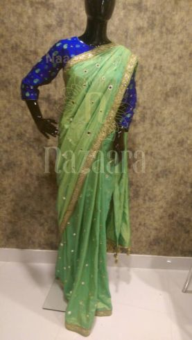 Mirror Work Sarees | Mirror Work Embroidery Sarees