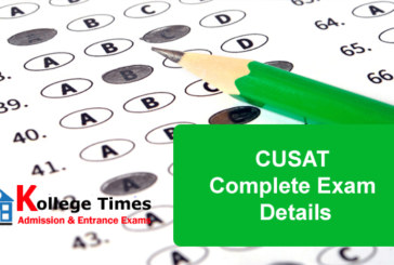 CUSAT 2017 Complete Exam Details :- Check Here