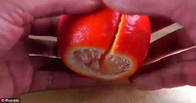 تقشير البرتقال