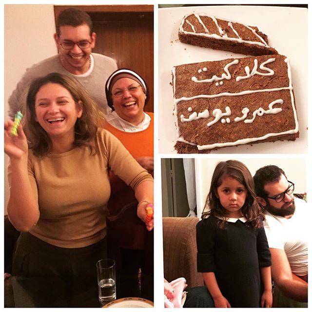 عمرو يوسف ووالدته وشقيقته