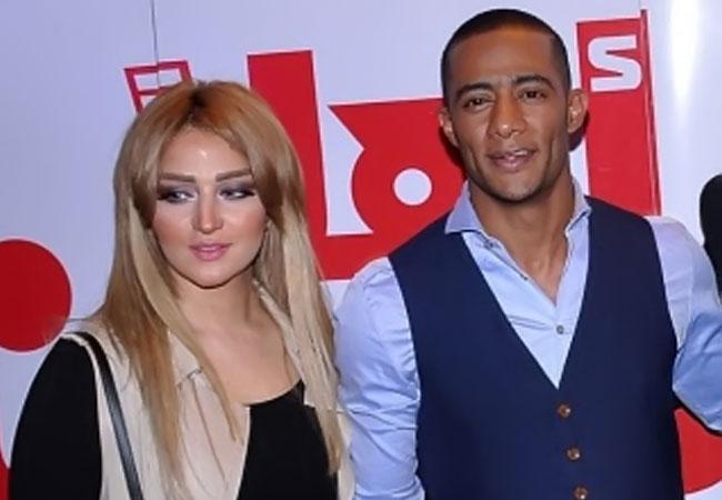 محمد رمضان وزوجته - بارزة