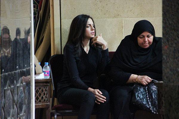 عزاء والد الفنانة امال ماهر