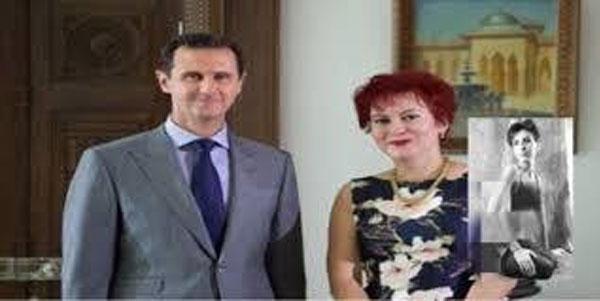 بشار الاسد والصحفية داريا اصلاموفا