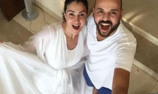 غادة عبد الرازق وزوجها محمد بندق