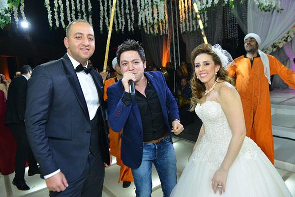 نجوم الفن يحتفلون بزفاف مصطفى السبكي و ياسمين حسين