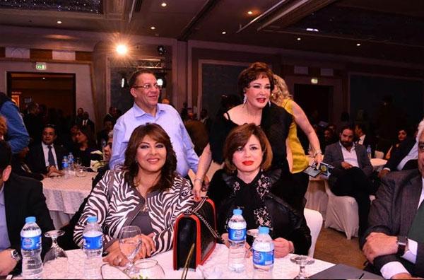 النجوم في مؤتمر اطلاق مبادرة الحبتور السينمائية