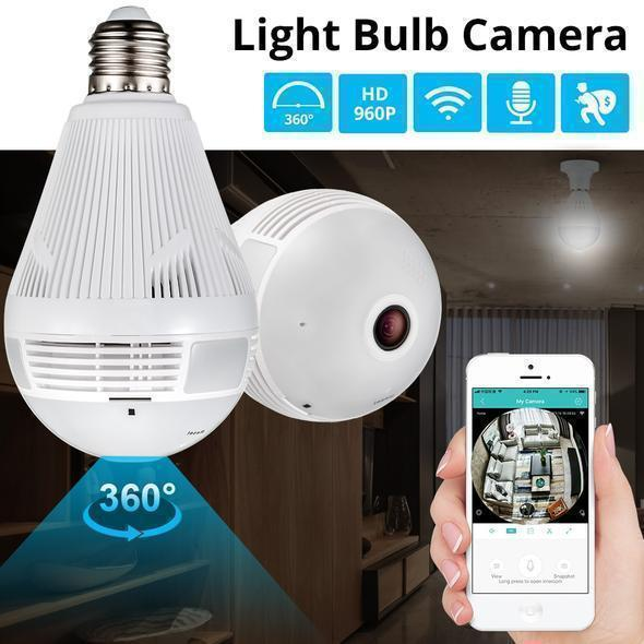 360 DEGREE PANORAMIC CAMERA LIGHT BULB