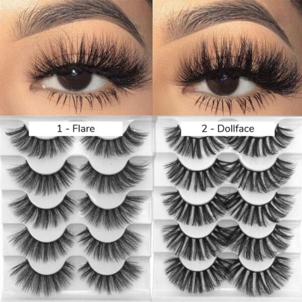 Faux Mink False Eyelashes Set