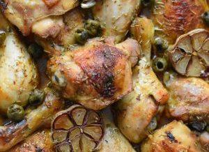 Kurczak po Illiańsku z oliwkami