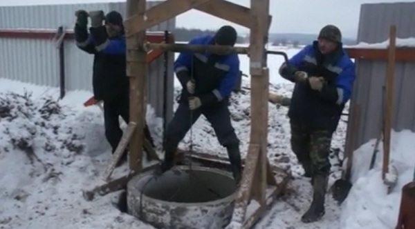 Копка колодца в зимний период