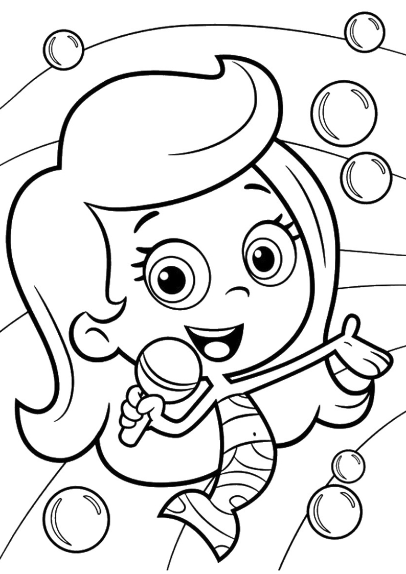 Molly Bubble Guppies Coloring Pages