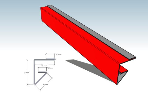 2. Угол внутренний 65х50 Длина 2 m, S=0,39 m2 | Фото ...