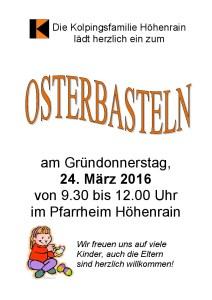 Einladung Osterbasteln