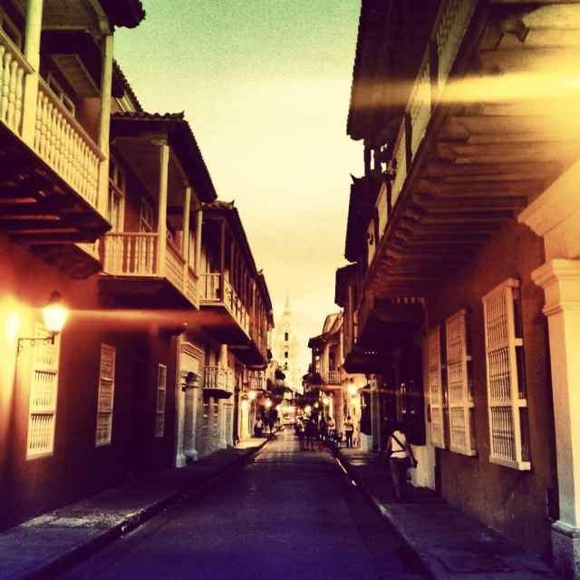 Straße Altstadt Cartagenas
