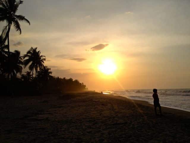 Sonnenuntergang Palomino La Guajira Kolumbien