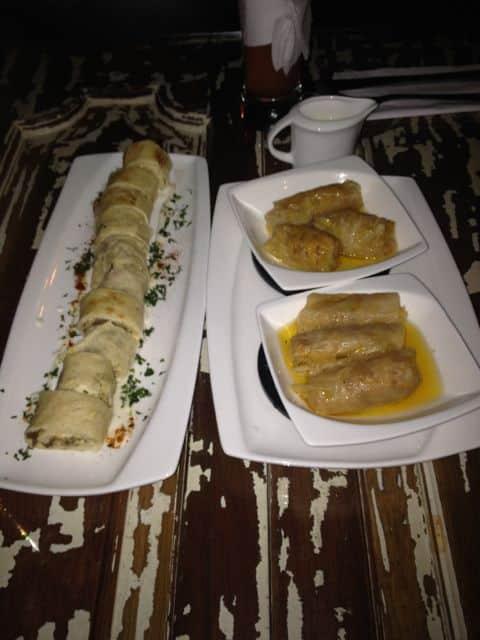 Vorspeise Bocaditos de Shawarma und Meshes Malfu