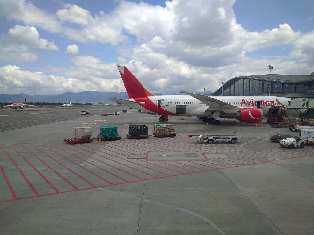 Avianca Flughafen Bogota in kolumbien