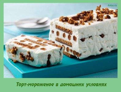 Торт-мороженое в домашних условиях
