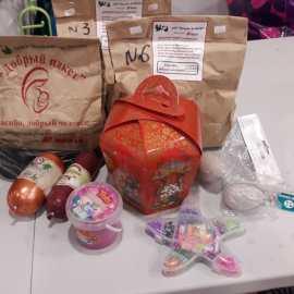 21 апреля участники АНО «Колыма – За Жизнь» доставили десяти подопечным семьям с детьми продуктовые наборы