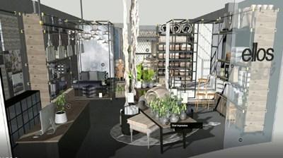 3D Virtual Ellos – Butikskoncept