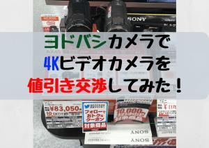 4Kビデオカメラ SONY FDR-AX45 をヨドバシカメラで値引き交渉してみた