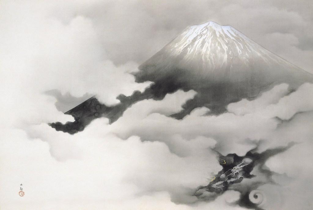 横山大観「龍躍る」1940年の作品画像