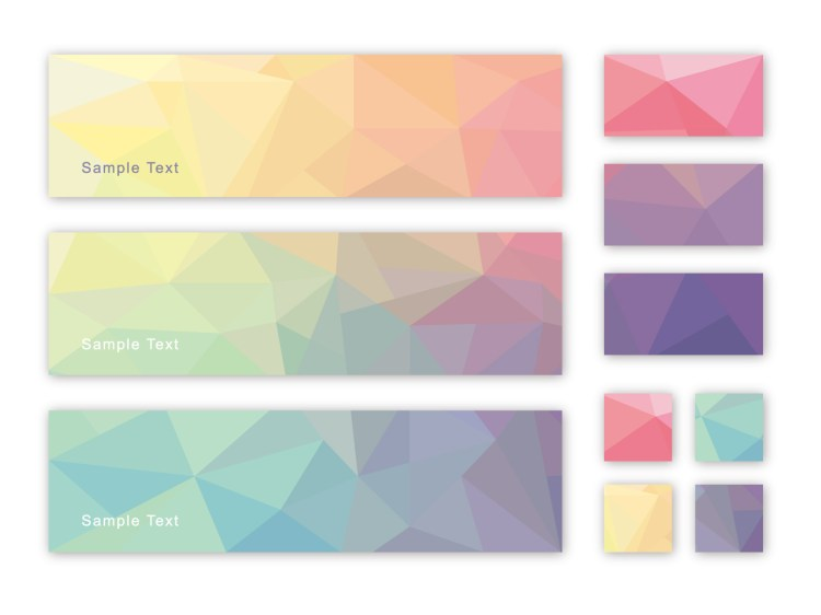 色のグラデーションの画像