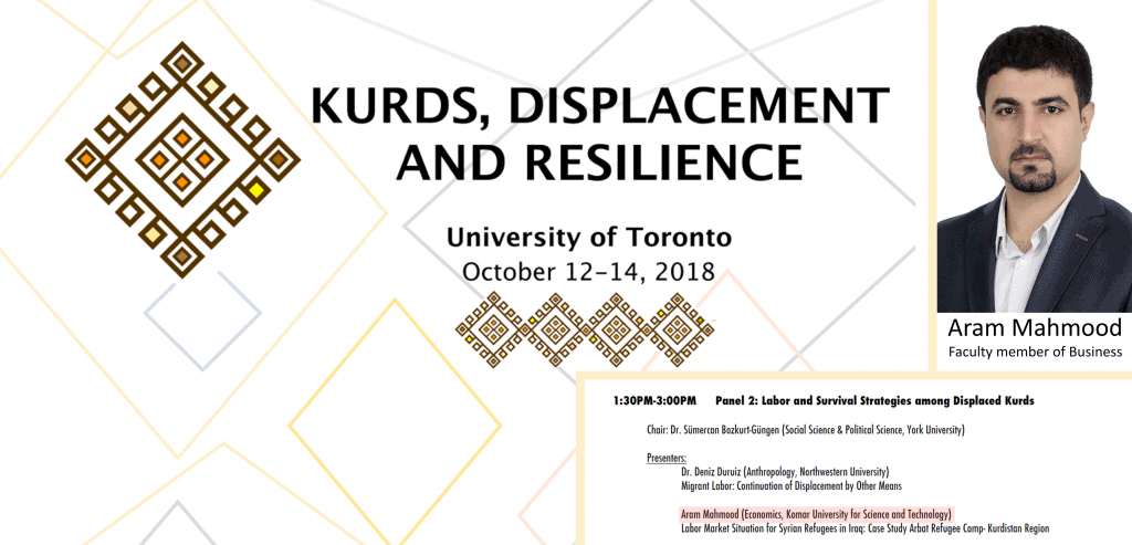 "KUST participates in ""Kurds-Displacement and Resilience"" conference"