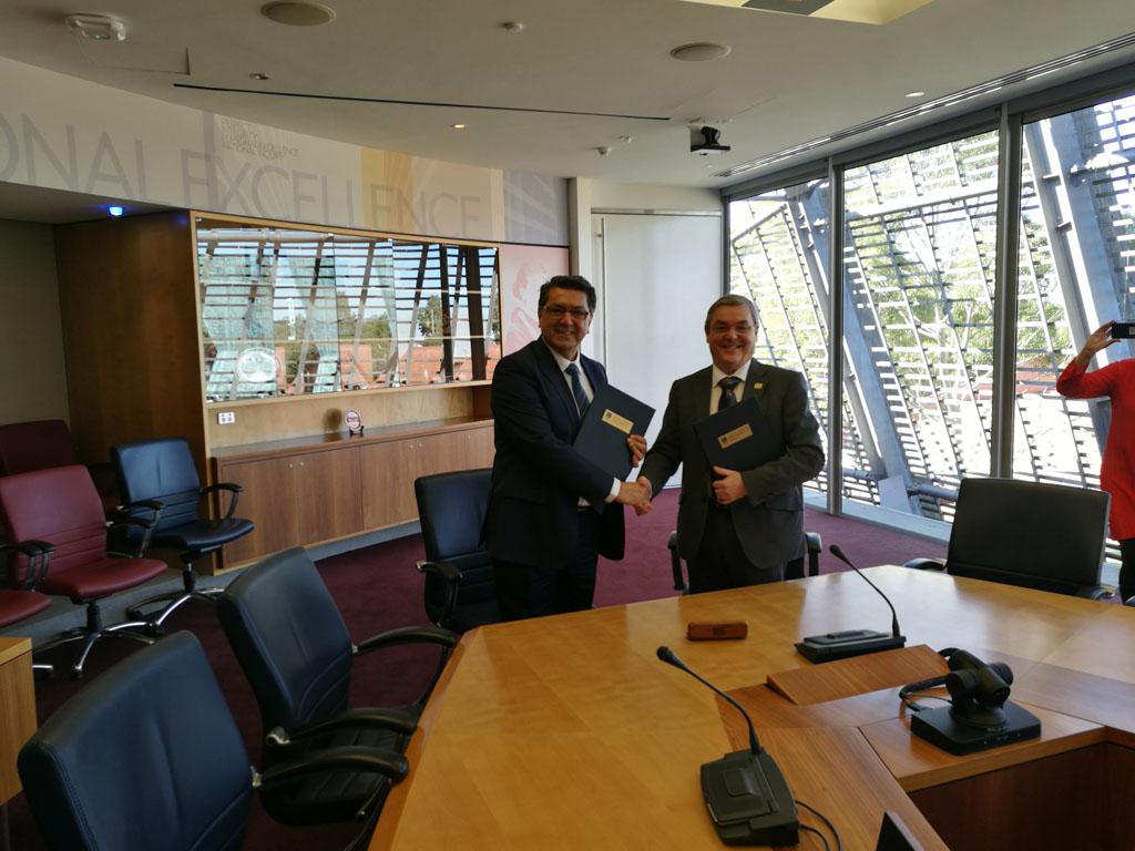 Komar University of Science and Technology has signed a Memorandum of Understanding (MoU) with Edith Cowan University (ECU) in Australia
