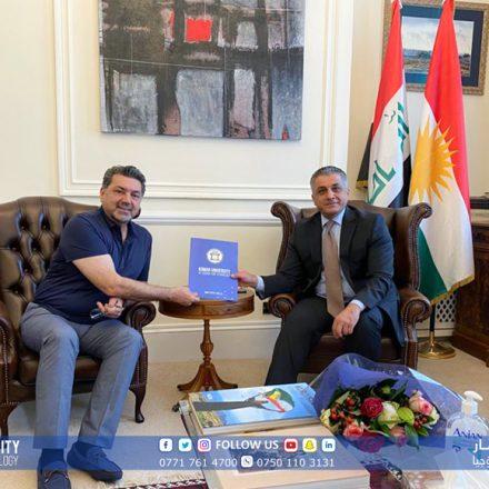 KUST President visits the KRG representative in the United Kingdom