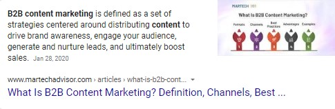 extrait de marketing de contenu b2b