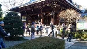 氷川神社本殿前