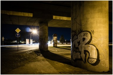 "Sven Jankowski ""Hochbrücke bei Nacht II"""