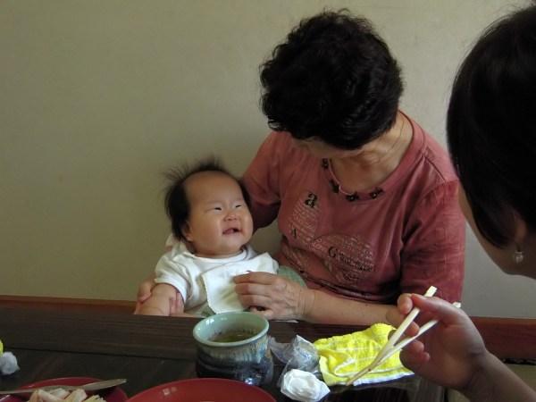 一平寿司で長女 2008年