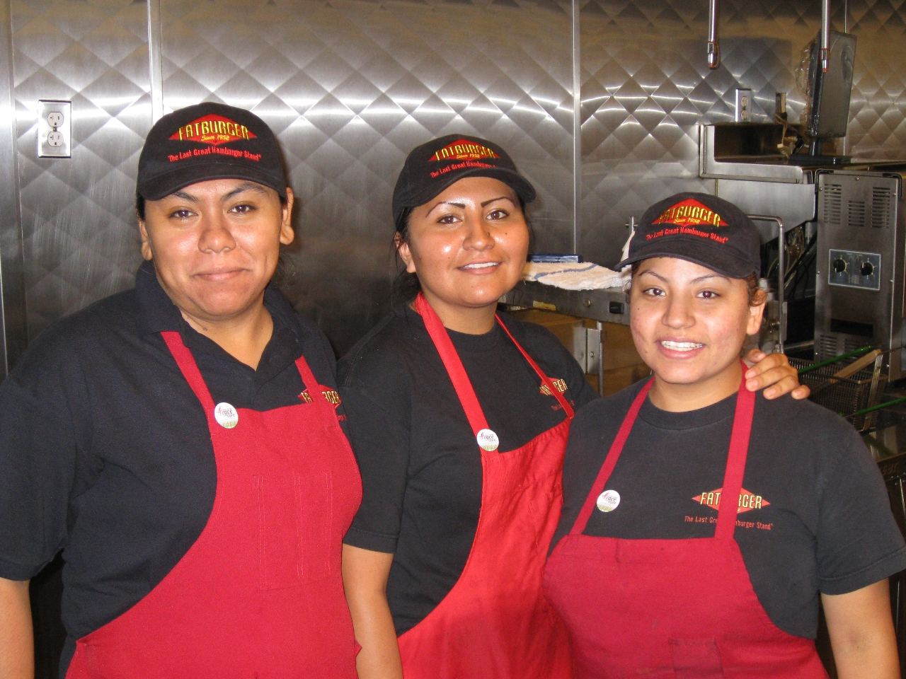 Yasmin, Laura and Amada, the smart women of Fatburger
