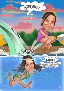 Havuzda-kaza-abla-kardes-karikaturu