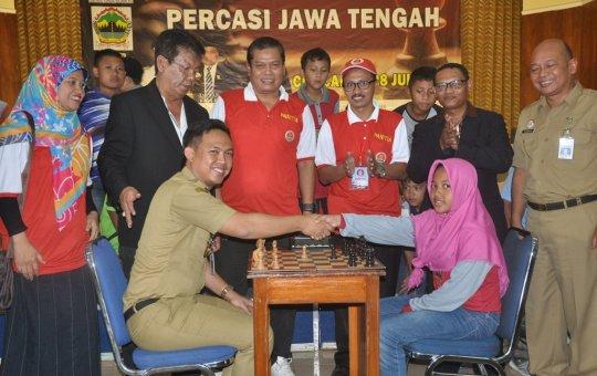 Wabup Buka Kejurprov Catur dan Musyawarah Provinsi PERCASI Jawa Tengah