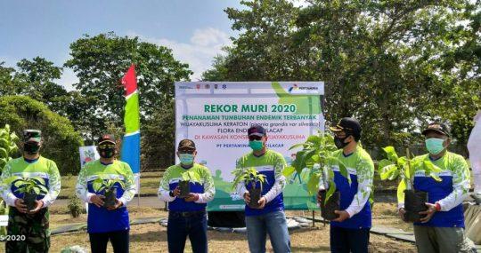 Pertamina Cilacap Catatkan Rekor MURI Dunia, Penanaman Terbanyak Pohon Wijayakusuma Keraton