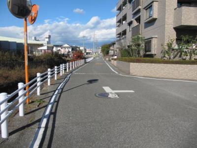 サーパス下戸祭の前面道路(西側)