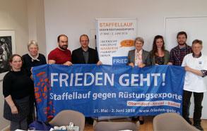 """Staffellauf """"Frieden geht!"""" durch Deutschland - Station auch in Mannheim"""