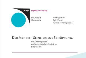Der Mensch. Seine eigene Schöpfung.  ONLINE VERANSTALTUNG VIA Skype @ TuK Speyer | Speyer | Rheinland-Pfalz | Deutschland