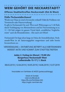 Offenes Stadtteiltreffen Neckarstadt
