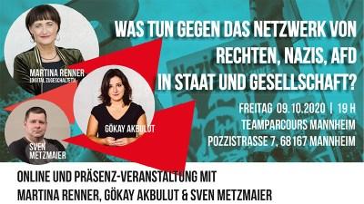 Was tun gegen das Netzwerk von Rechten, Nazis, AfD in Staat und Gesellschaft? @ Team Parcours | Mannheim | Baden-Württemberg | Deutschland