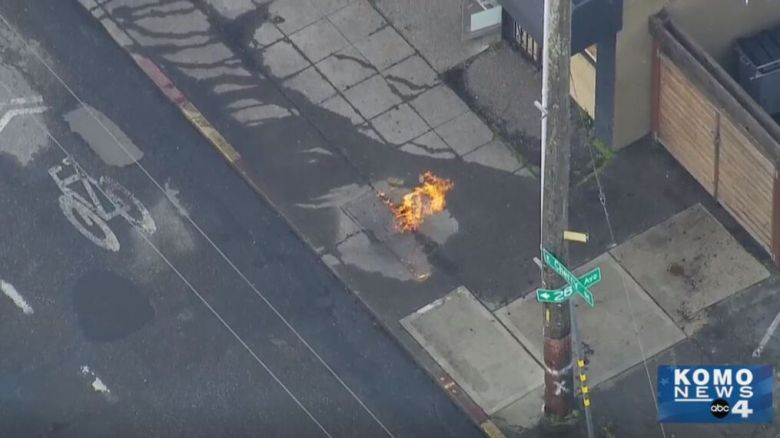Seattle fire crews respond to fire in underground drain, neighbors asked to evacuate